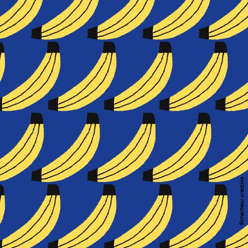 Banana Pattern by Cherbear Creative Studio