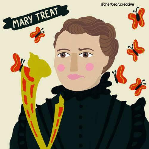 Mary Treat by Cherbear Creative Studio
