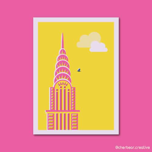 Chrysler Building Illustration by Cherbear Creative Studio