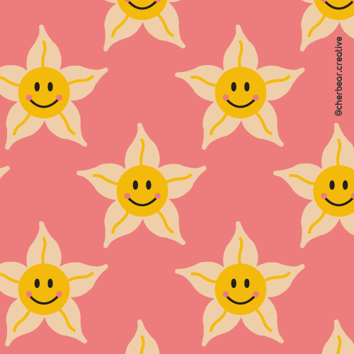 Happy Daffodils Pattern by Cherbear Creative Studio