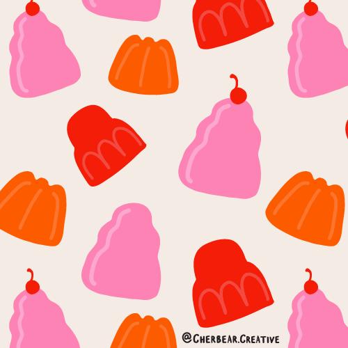 Jelly pattern by Cherbear Creative Studio