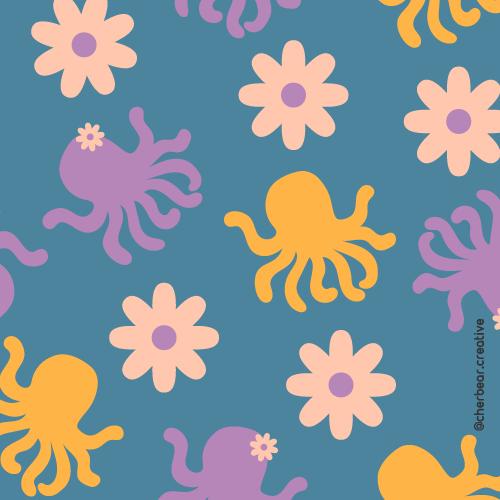 Octopus Pattern by Cherbear Creative Studio