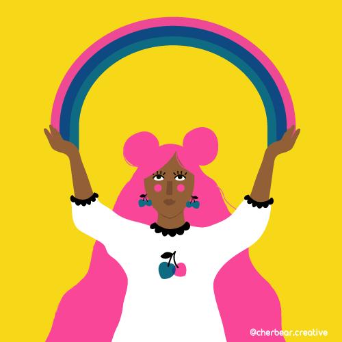 Rainbow girl by Cherbear Creative Studio