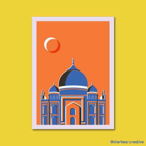 Taj Mahal Illustration by Cherbear Creative Studio