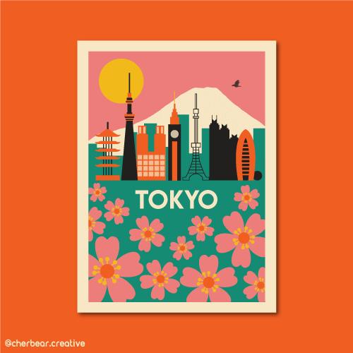 Tokyo Illustration by Cherbear Creative Studio