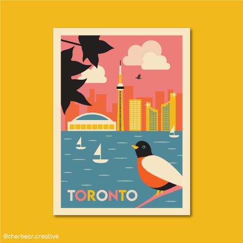 Toronto Illustration by Cherbear Creative Studio