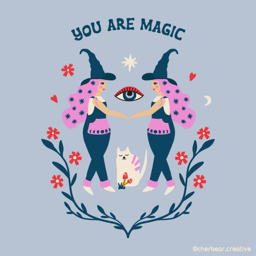 Witches magic illustration by cherbear creative studio